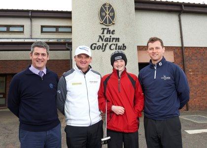 (from left) Fraser Cromarty, Paul Lawrie, Sandy Scott and Michael MacDougall