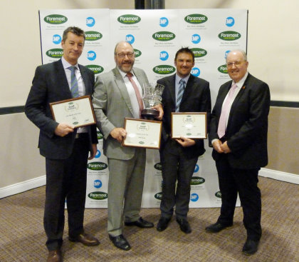 (from left) Steve Carter (PING European Sales Director), John Clark (PING European Managing Director), Paul Wood (PING VP Engineering) & Paul Hedges (Foremost CEO)