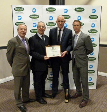 (from left): Chris Steel, Foremost Chairman; Paul Gerrard, national sales manager ProQuip; Russell Brooks, general manager ProQuip Golf; Chris Glenday, Foremost Approved Supplier Manager