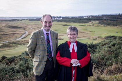 Rev Susan Brown with General Manager Neil Hamptoi (Paul Campbell/Church of Scotland)