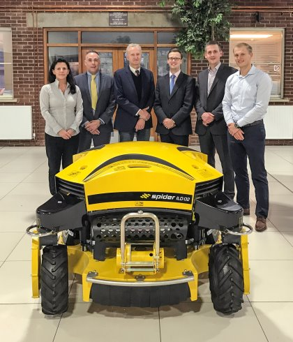 (from left) Pavlina Novakova, Marketing Manager, Spider; Nick Penn, Territory Sales Manager, Spider; Lubomir Dvorak, Managing Director, Spider; Alexander Scott, Managing Director, T H WHITE Group; Tim Lane, Director, Machinery Imports; and Lubor Hladik, Product & Customer Care Specialist, Spider