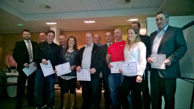 The Diploma recipients with Michael Braidwood, CMAE's Director of Education (second right)