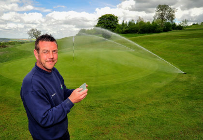 Smooth operator. John Evans, course manager, says Ramsdale Park's irrigation refit was as smooth as it could have been