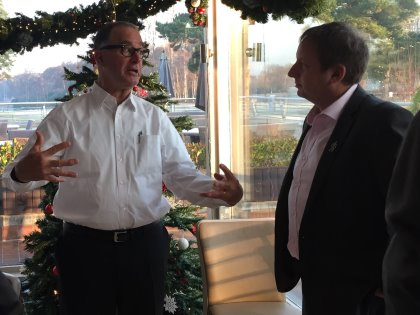 Gregg Patterson (left) and 59club chief executive Simon Wordsworth