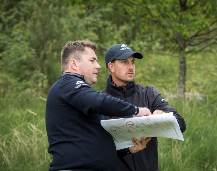 Golf Course Architect Christian Lundin with Henrik Stenson