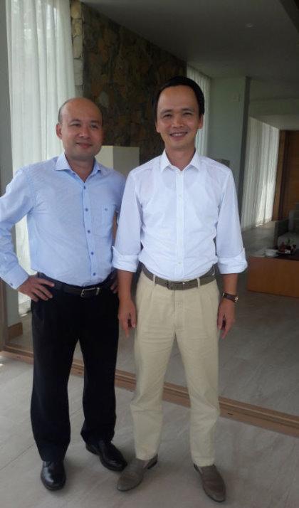 Biscom chairman Luu Duc Quang and FLC chairman Trinh Van Quyet