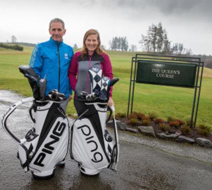 American Beth Allen, the Scots-based new Ladies European Tour No 1, and Scottish Golf Men's Order of Merit winner Euan McIntosh (Kenny Smith)