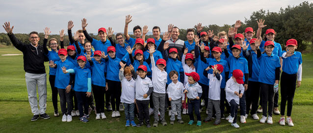 Sergio Garcia marks the fifth anniversary of his Junior Golf Academy at PGA Catalunya Resort