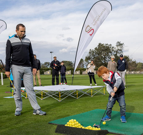 As many as 35 juniors, some as young as five-years-old, now regularly attend the Sergio Garcia Junior Golf Academy