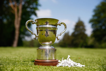 OTTERSHAW, ENGLAND - MAY 13: The Bernard Hunt Trophy during Round 3 of the Senior Club Pro's Championship at Foxhills on May 13, 2016 in Ottershaw, England. (Photo by Christopher Lee/Getty Images)