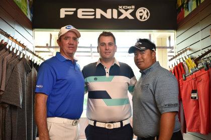 (from left) Scott Hend, Michael Moir and Kiradech Aphibarnrat