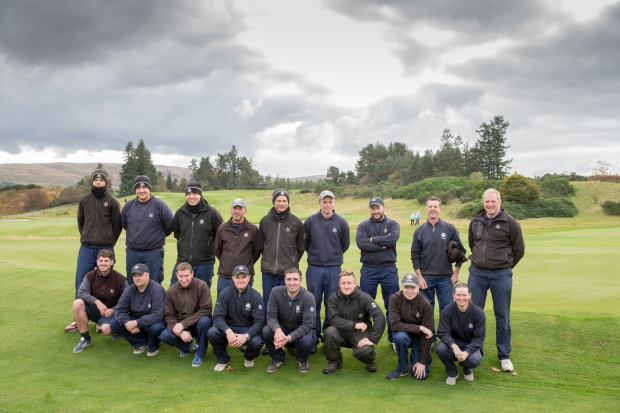 Some of the Gleneagles Greenkeeping Team at the SPGA Championship at Gleneagles, October 2016 (Kenny Smith Photography)