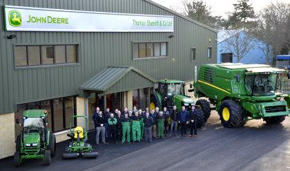 homas Sherriff & Co staff at the new dealership head office premises at Backburn in Haddington, East Lothian