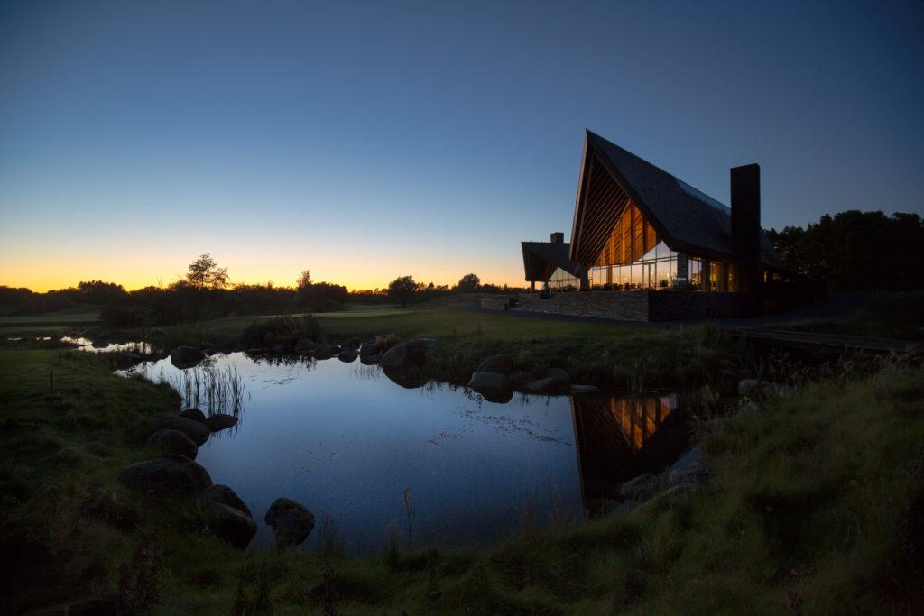 The Scandinavian award winning clubhouse designed by Henning Larsen Architects