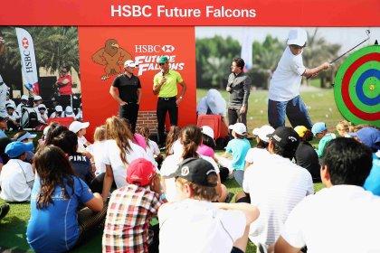 Top golfers inspire Abu Dhabi's Future Falcons
