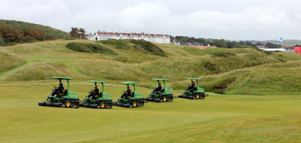 John Deere and dealer Nairn Brown provided tournament support for the 2015 Ricoh Women's British Open