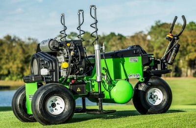 The Air2G2 machine allows for quicker recovery of turf and continual play