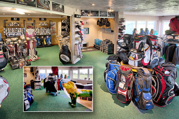 The pro shop[ at Chippenham Golf Club