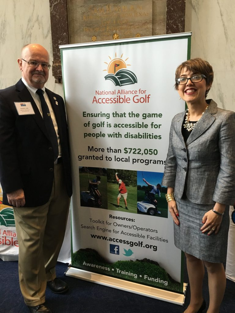 Steve Jubb and Chava McKeel at National Golf Day 2016