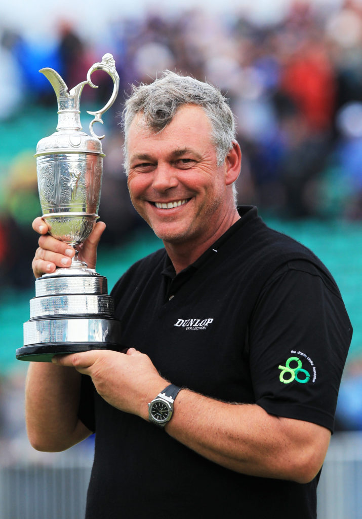 Darren Clarke of Northern Ireland holds the Claret Jug following his victory in The 140th Open at Royal St George's in 2011 (photo credit The R&A)