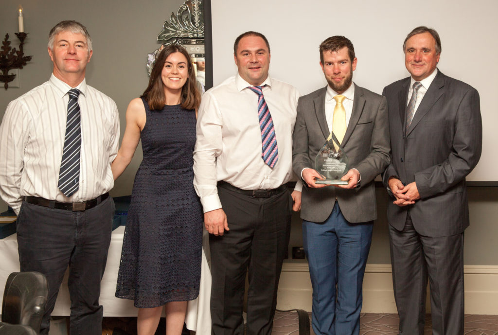 Bob Taylor (Head of Ecology, STRI Group), Sophie Vukelic (Ecology and Environment Consultant, STRI Group), Mike James (Wiedenmann – Golf Environment Awards Sponsor), Alex James (Red Course Manager, Frilford Heath Golf Club), Alistair Booth (Executive Chairman, Frilford Heath Golf Club)
