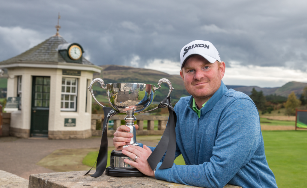 Gareth Wright, winner of the 2016 M&H Scottish PGA Championship (courtesy of Kenny Smith)