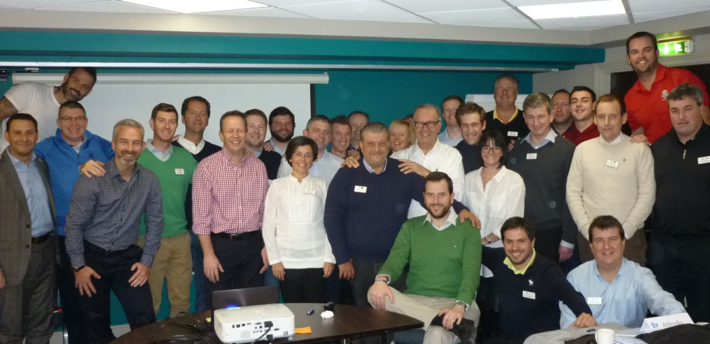 The delegates with programme presenters Kevin Fish CCM and Gregg Patterson