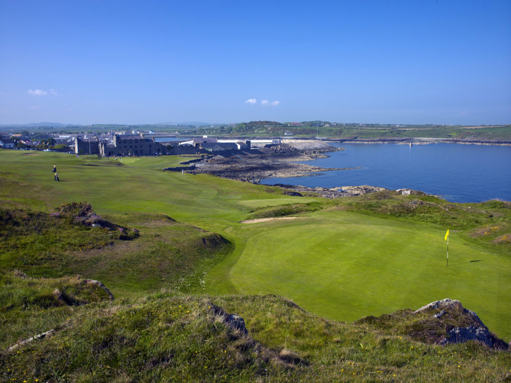 Ardglass Golf Club, the historic clubhouse in the background (credit Larry Lambrecht)