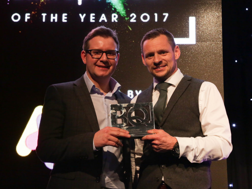 Shot Scope CEO David Hunter (left) and We Are Boutique Director Simon Bollon