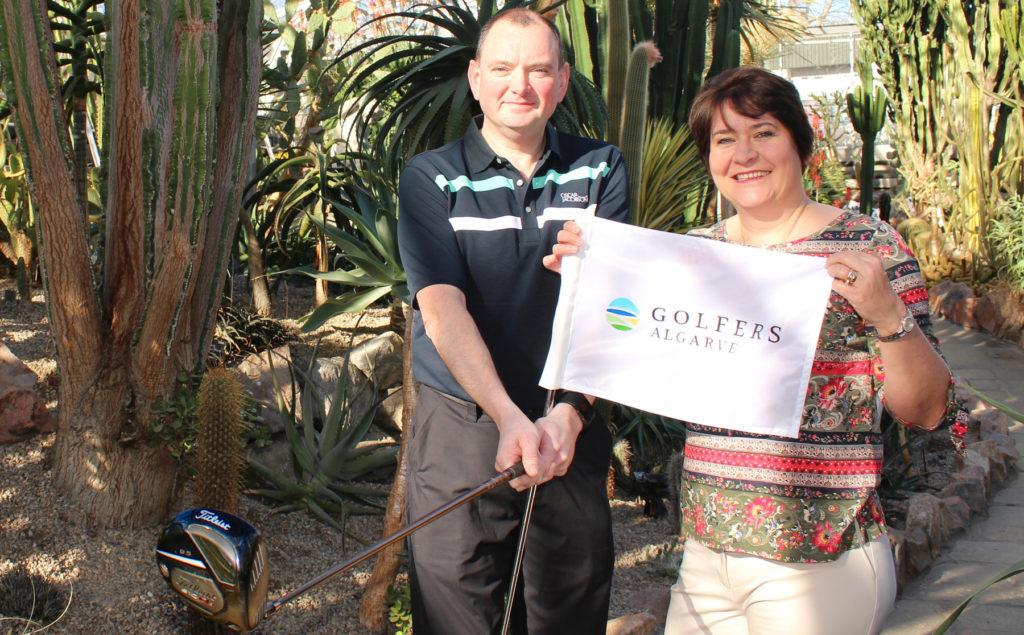 Golfers Algarve founders, Brian and Fiona Reid