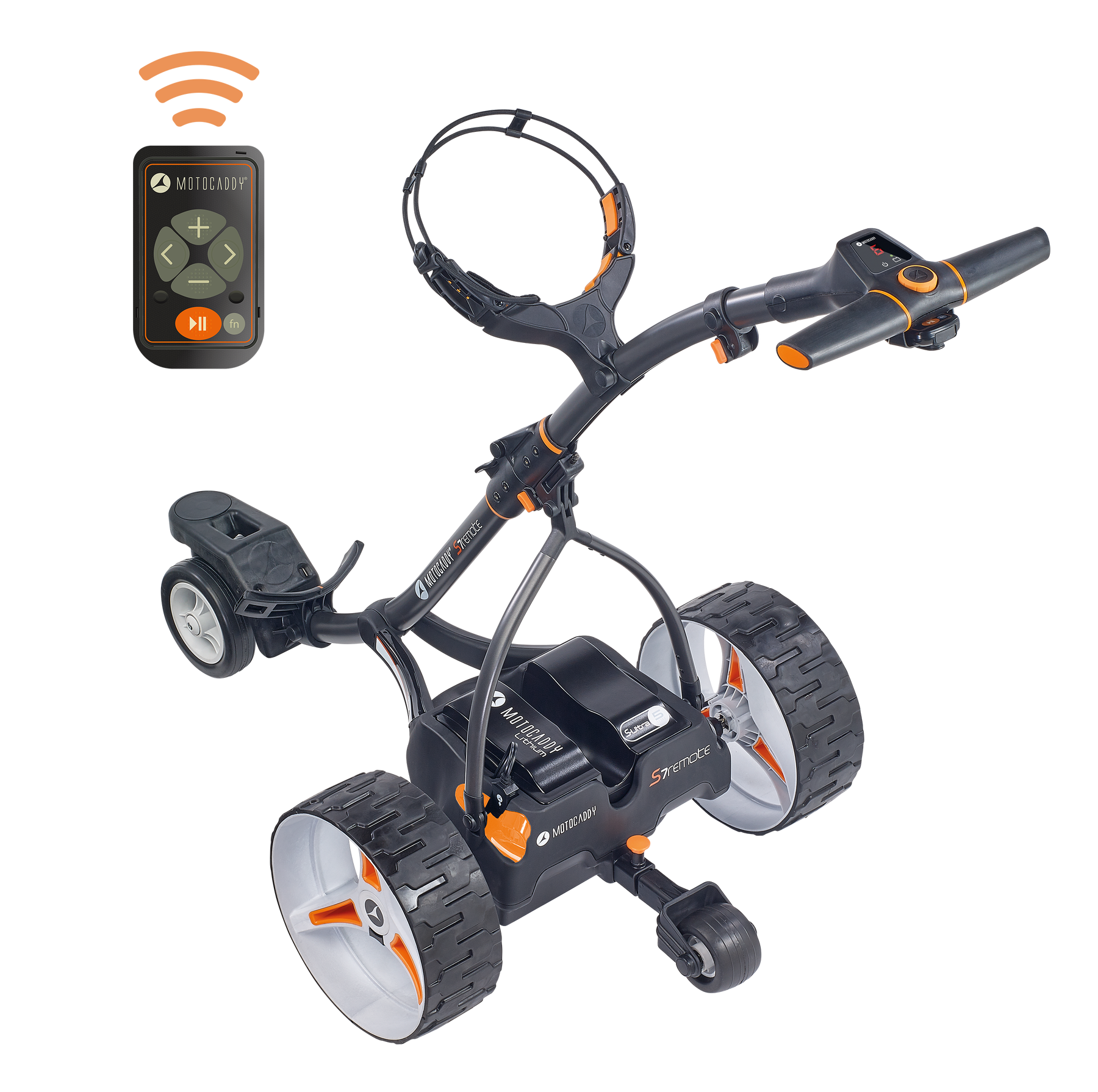 Motocaddy corrected S7 REMOTE Graphite High-Angled with Handset