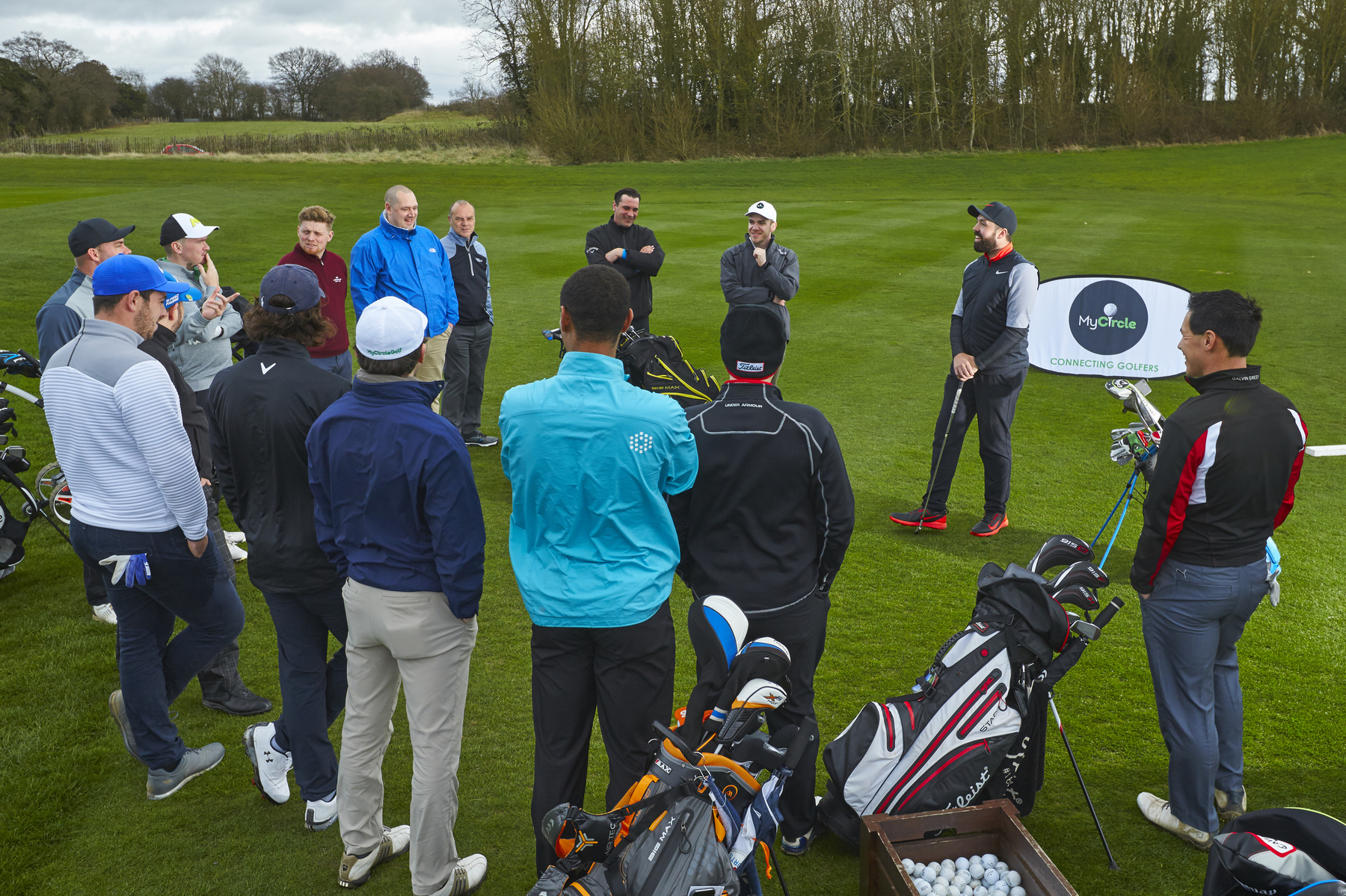 Rick Shiels with the winners at My Circle Golf launch