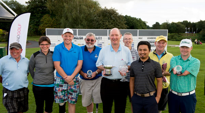 Prizewinners at the 2016 English Disability Open (image © Leaderboard Photography)