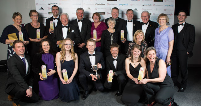 Winners at the England Golf Awards (© Leaderboard Photography)