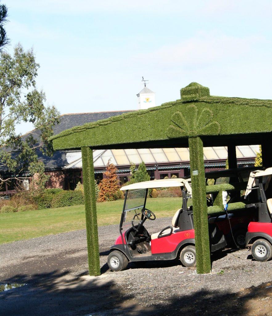 Easigrass buggy shelter at Ramside Hall