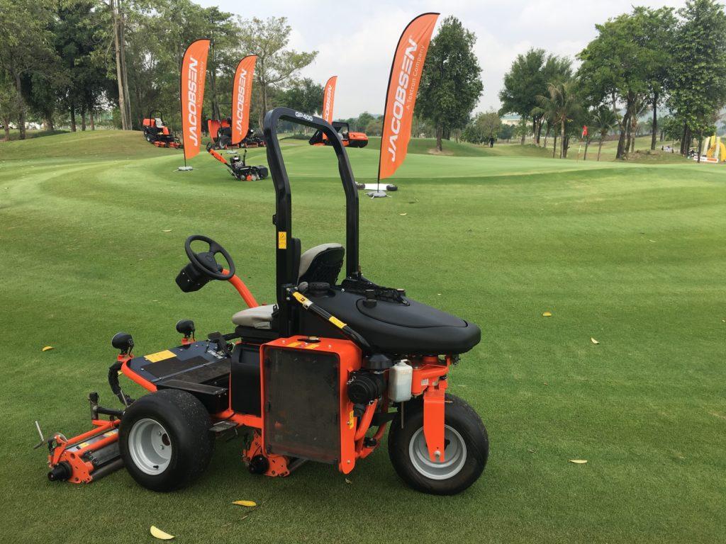 Jacobsen showcased a range of machinery at Pattana Golf Club