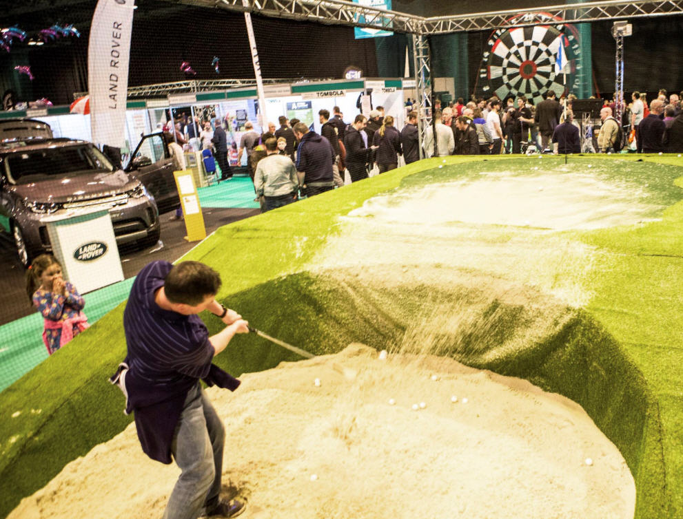Scottish Golf Show bunker challenge